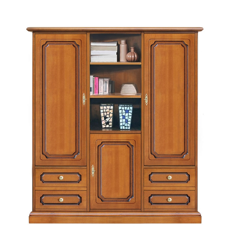Wooden cabinet 3 doors 4 drawers