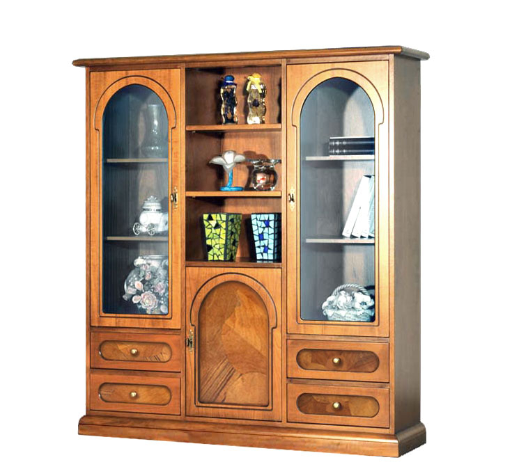 Display cabinet with briar-root
