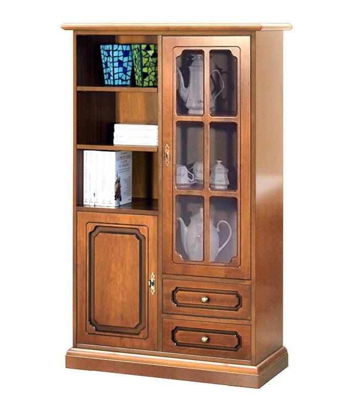 Combined 2-door display cabinet