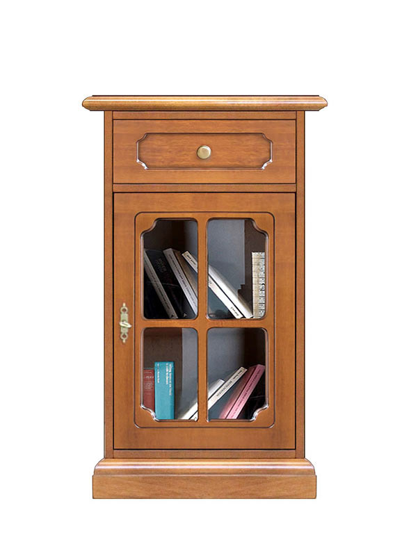 Small cabinet with display door