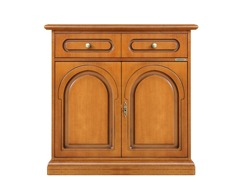 Classic cherry wood sideboard 2 doors