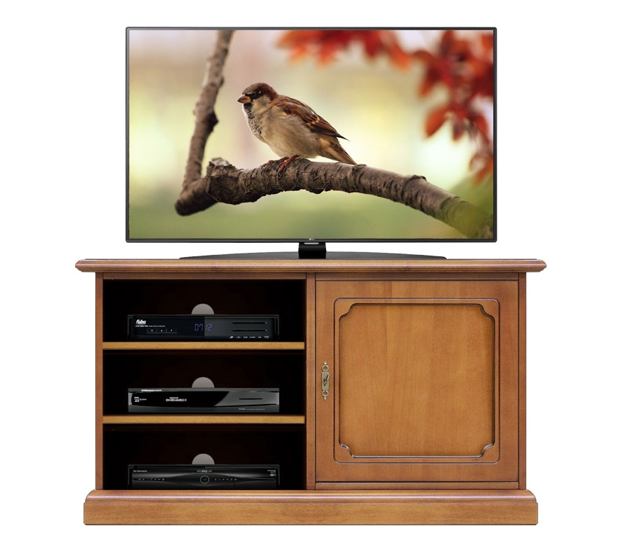 TV stand unit with door and shelves