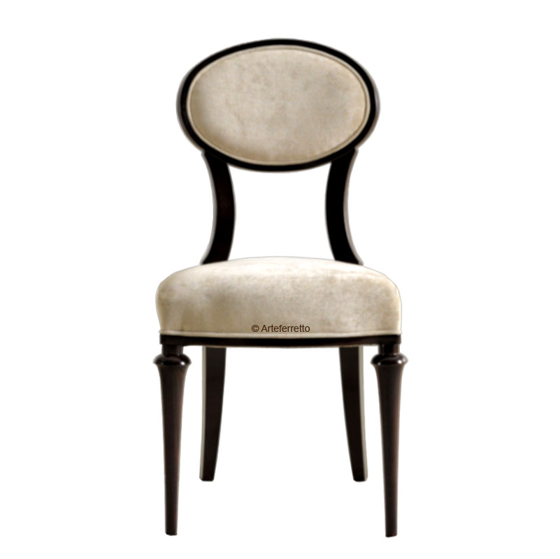 Oval backrest chair, Exclusive design dining chair