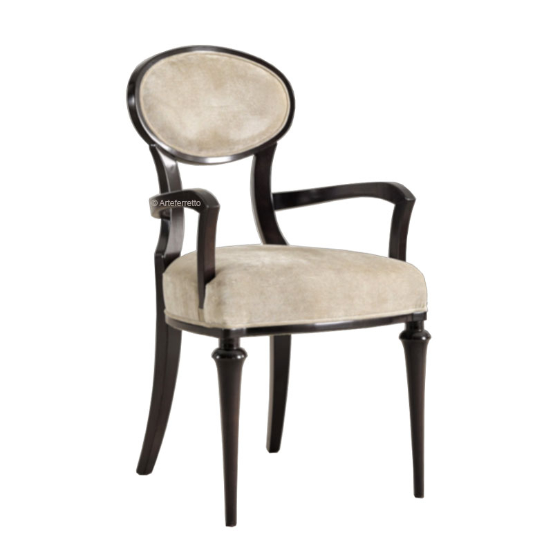 Oval backrest armchair, exclusive design dining armchair
