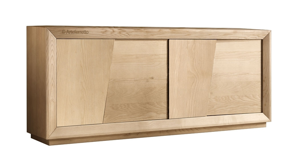 Wooden sideboard, modern design, 4 doors