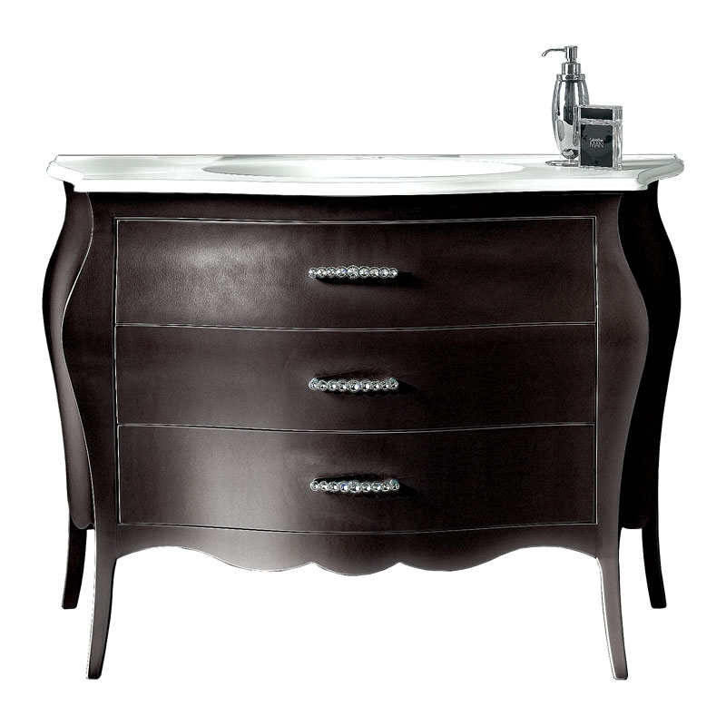 Lacquered bathroom chest of drawer, sink unit