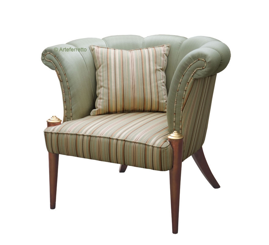 Refined upholstered armchair Icon