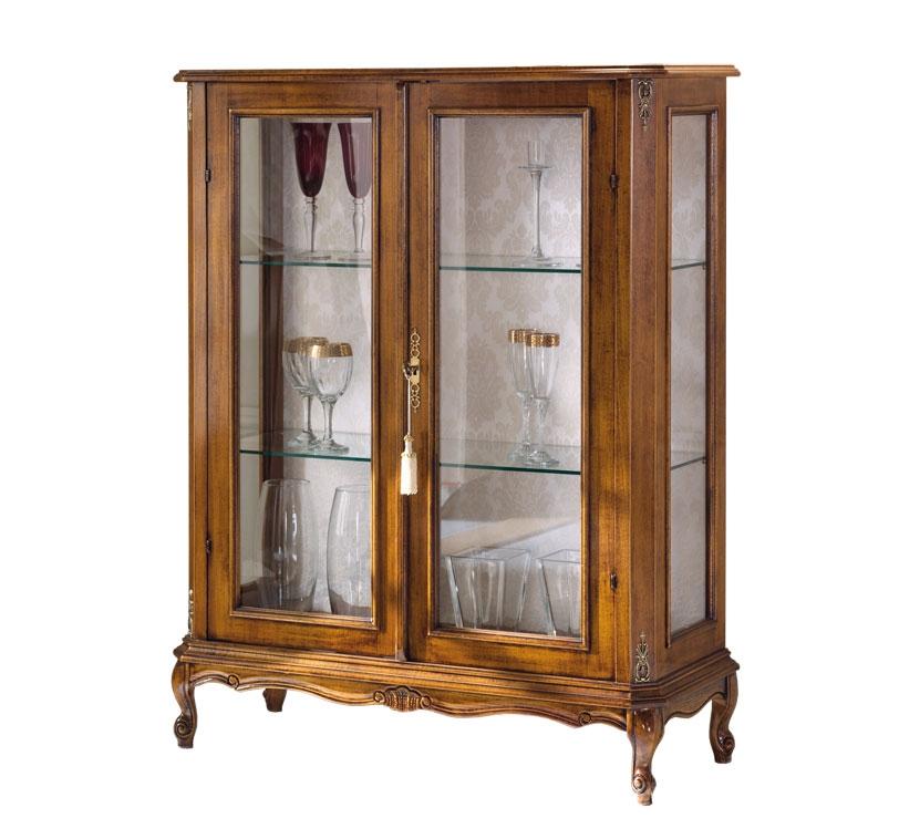 Wood display cabinet 2 doors for living room