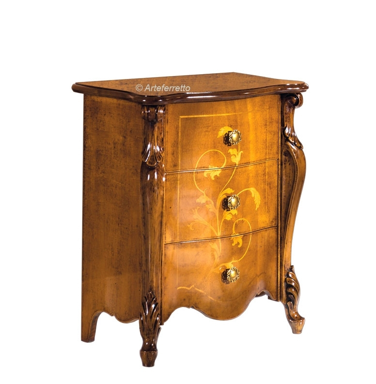 Inlaid bedside table