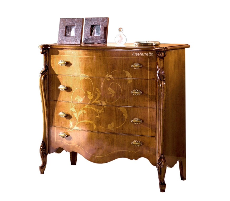 Inlaid dresser for bedroom in classic style