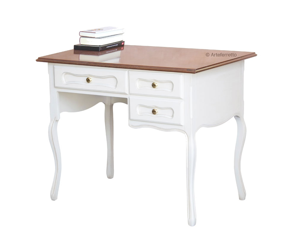 Provence style desk two tone