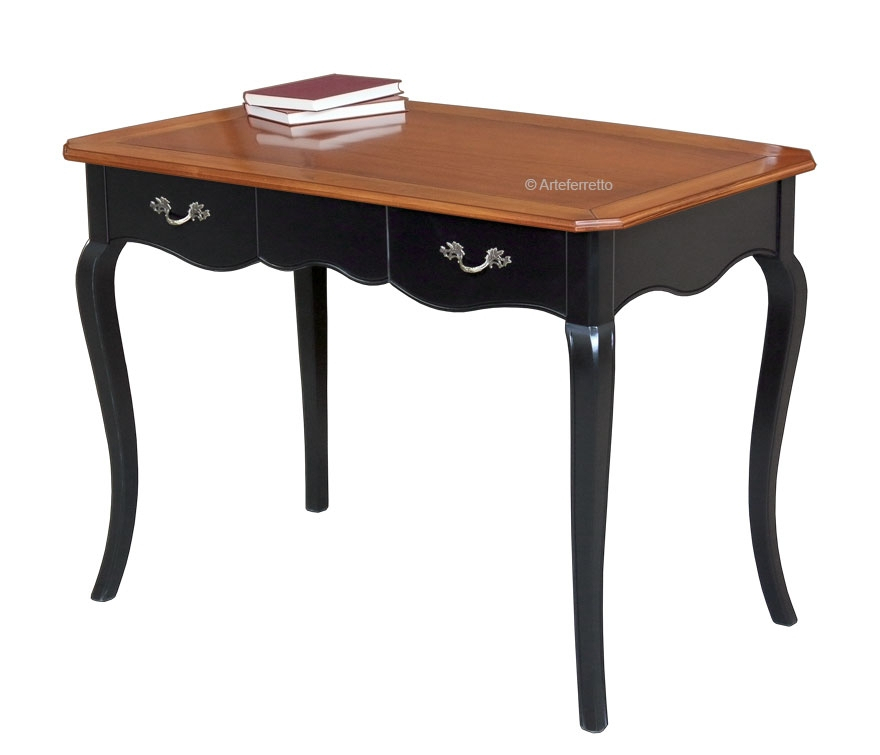Two tone shaped desk