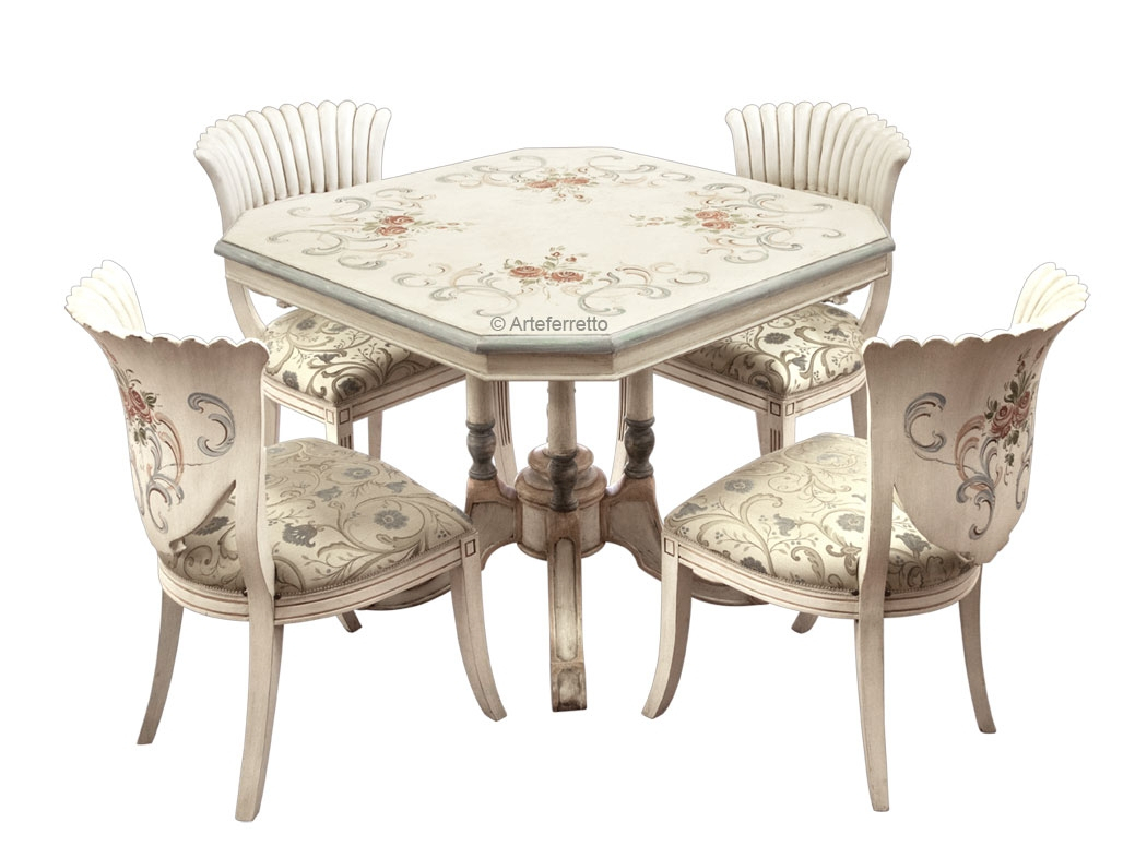 Decorated dining set