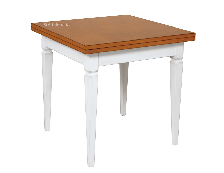 Two tone flip top table 80 x 80 cm