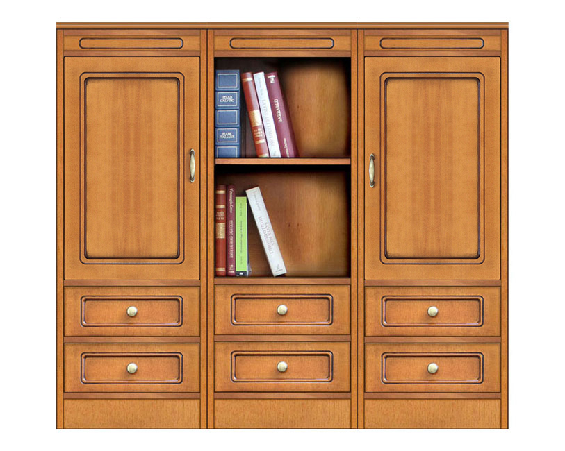 Low sideboard in wood Compos Collection