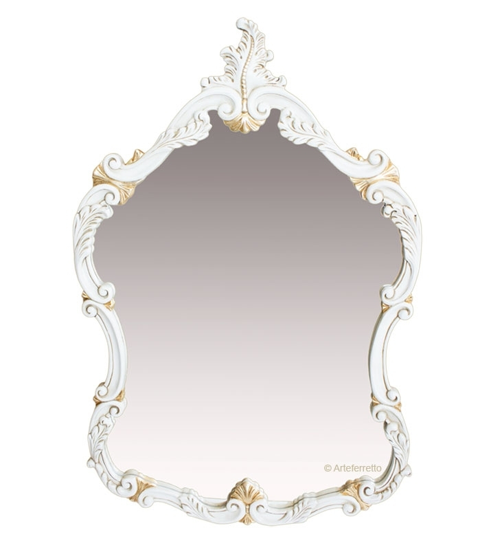 Wood frame mirror Gold classic