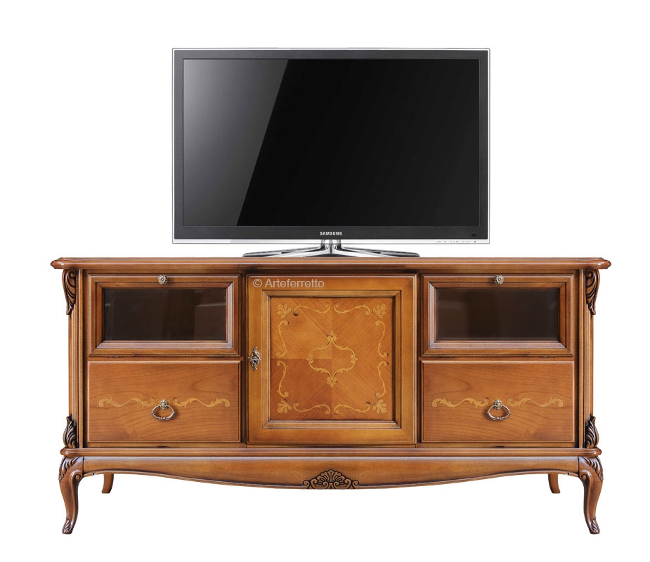 Solid lime wood tv cabinet
