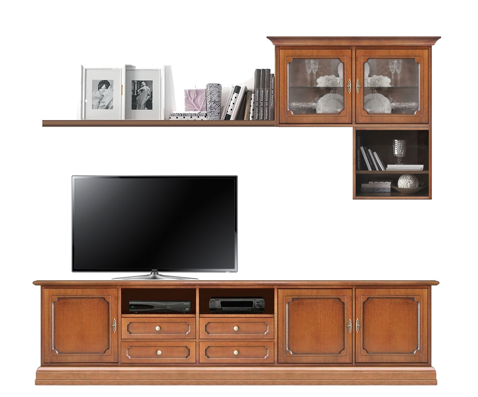 Living room wall unit in wood
