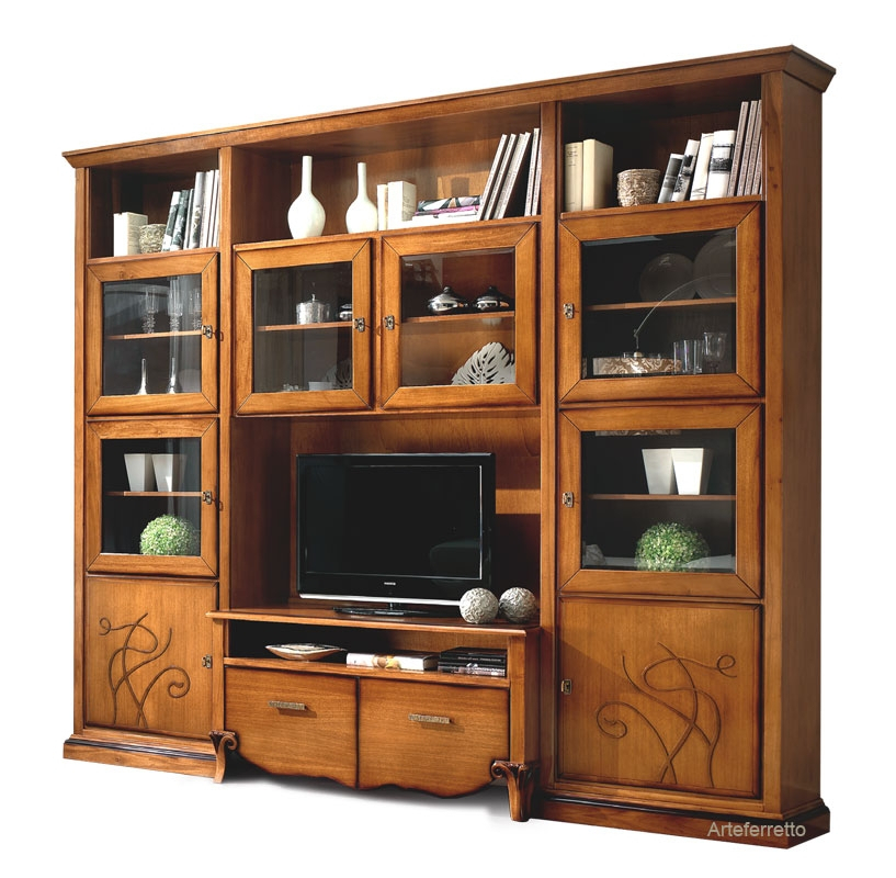 Living wall unit in wood