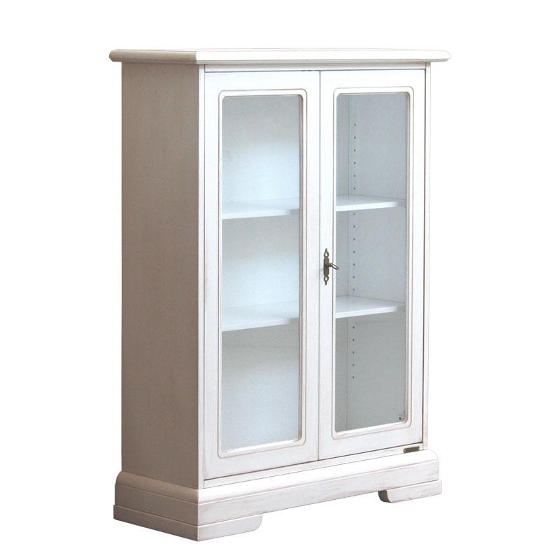 Glass door showcase in wood