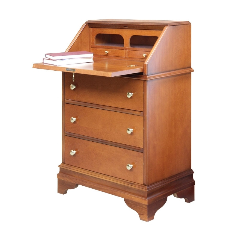 Flap cabinet with drawers
