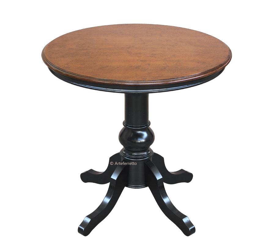 Two tones round table 80 cm