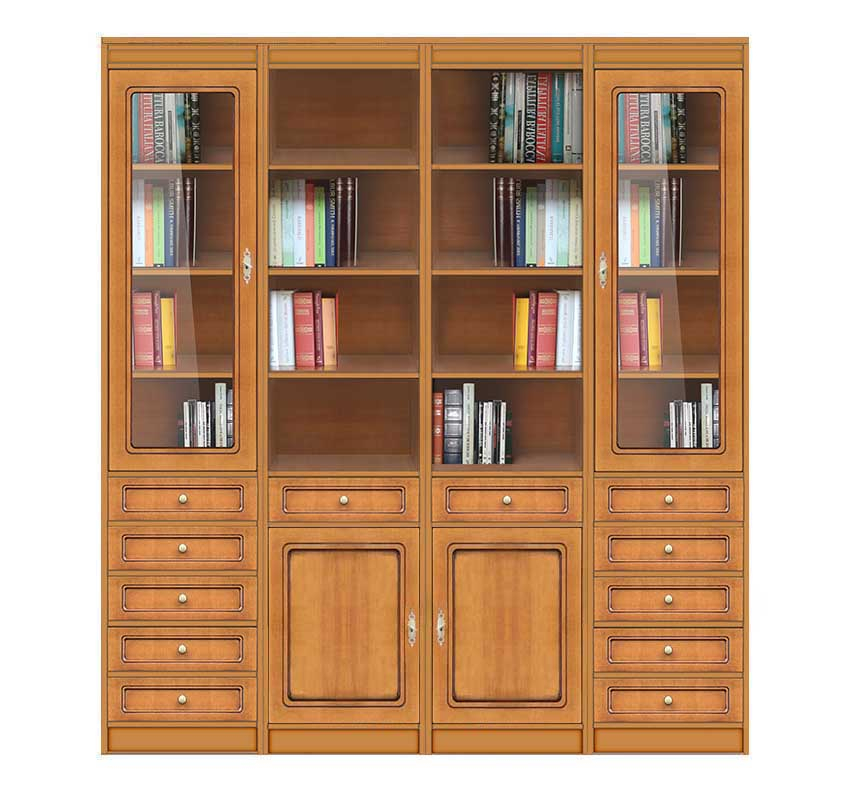 Wall bookcase in wood