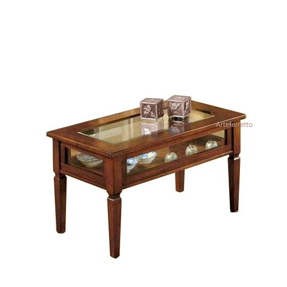 Display coffee table in wood