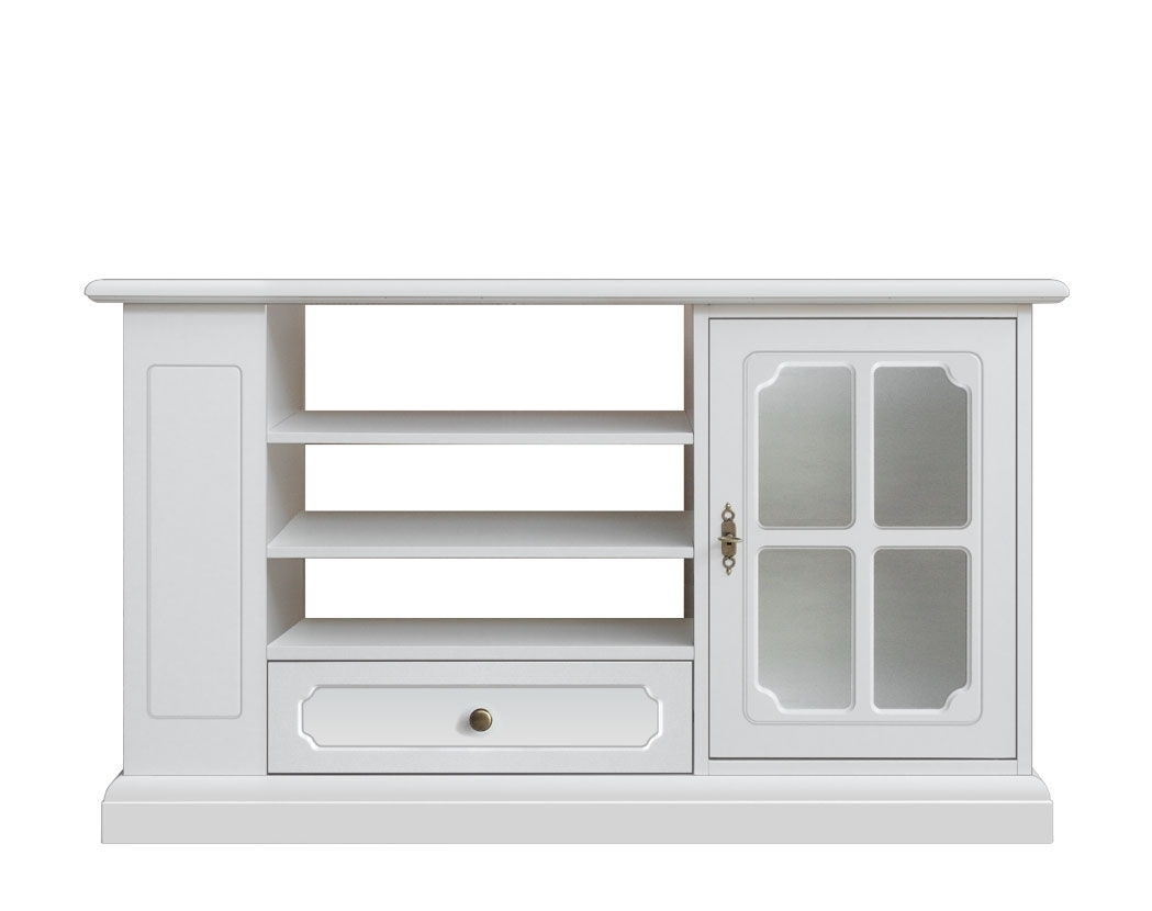Living room tv unit with shelves