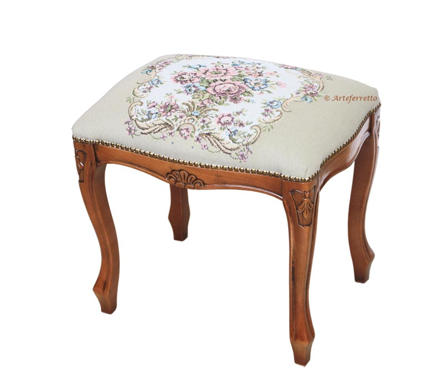 Footrest stool in classic style