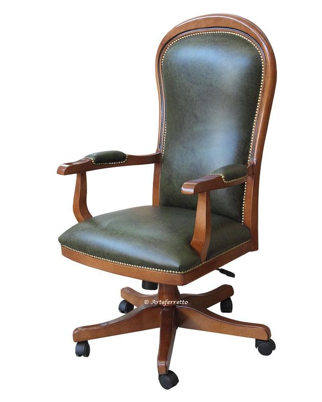 Executive armchair for office