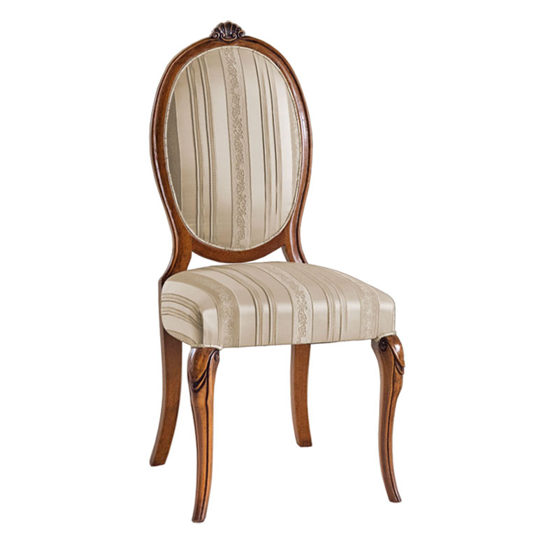 Oval backrest dining chair