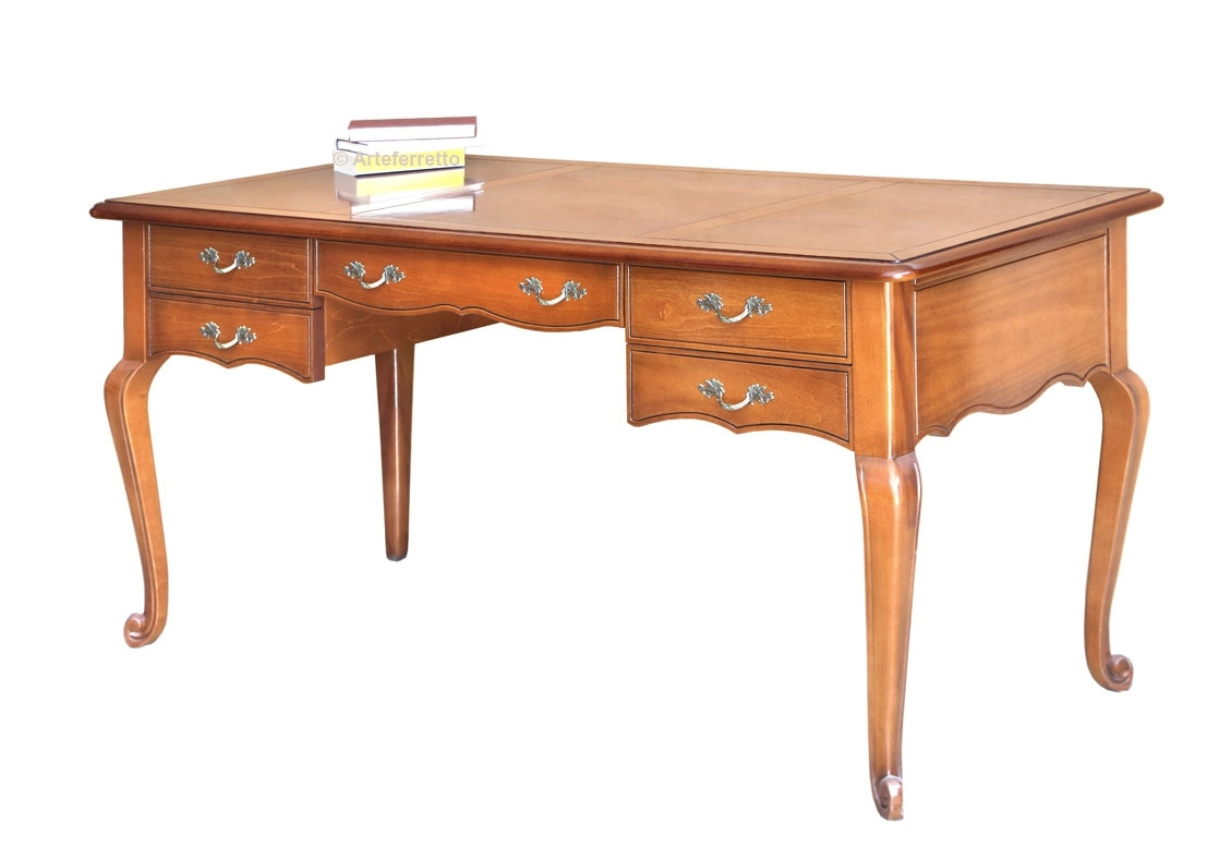 5 drawers writing desk in wood Onda