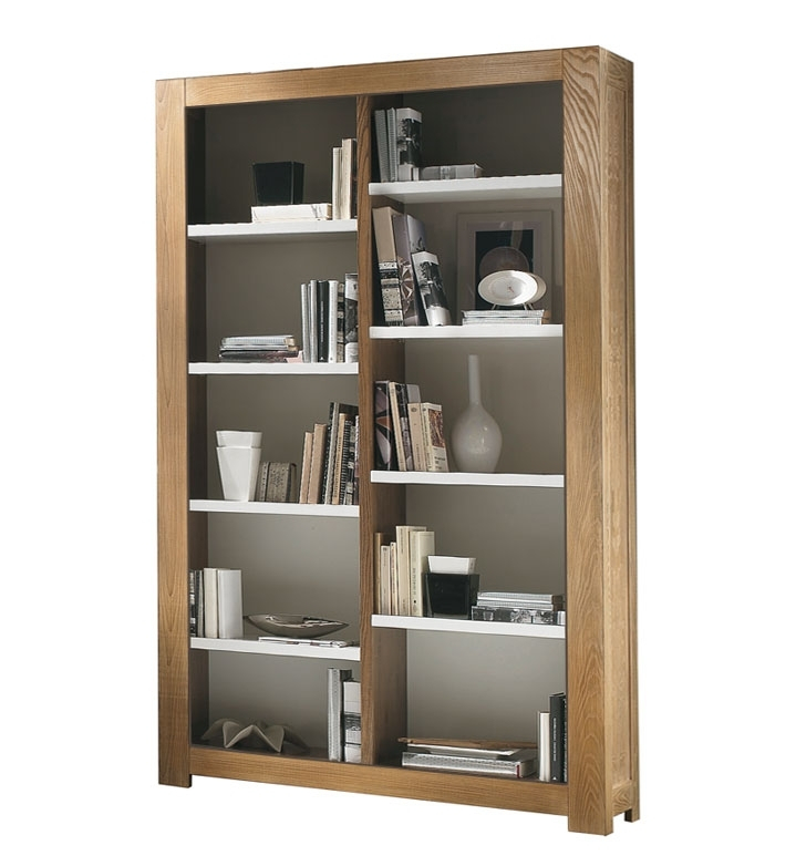 Open shelving bookcase in ash wood