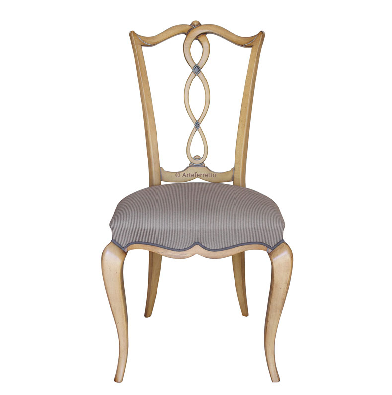 Shaped back dining chair