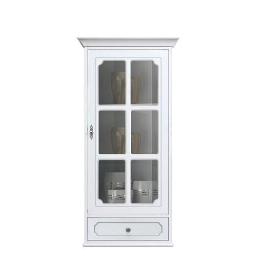 Glass door wall cabinet