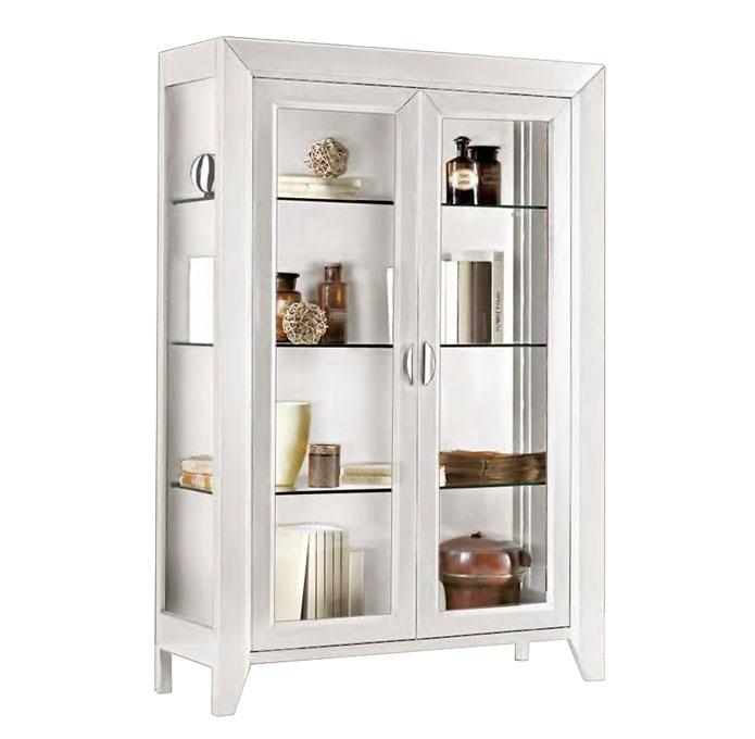 2 door white display cabinet