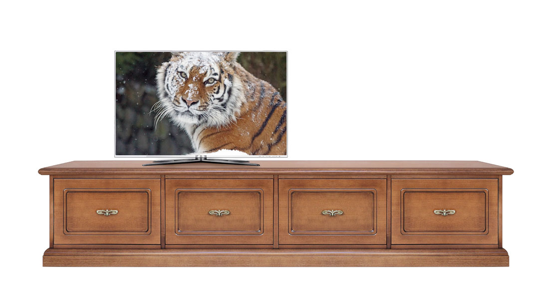 Wooden tv stand 4 drawers