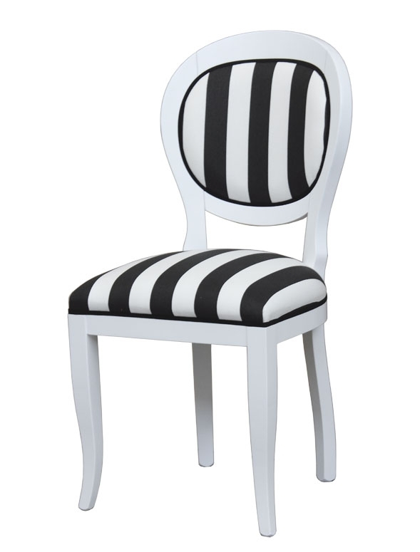 Handmade chair in black and white