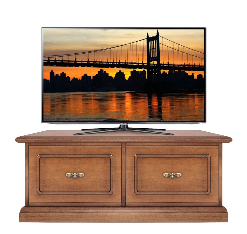 Wooden tv stand soft close drawers