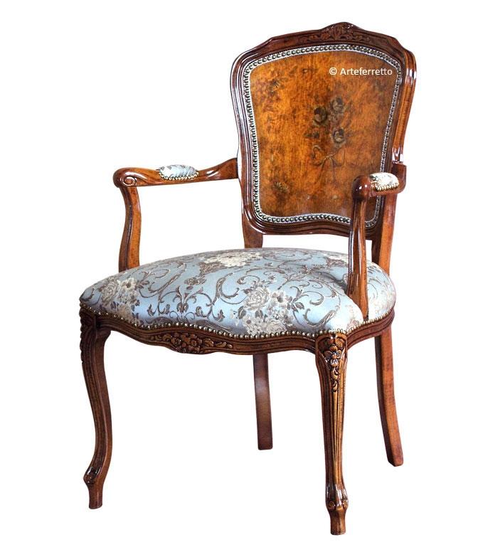 Decorated parisian armchair