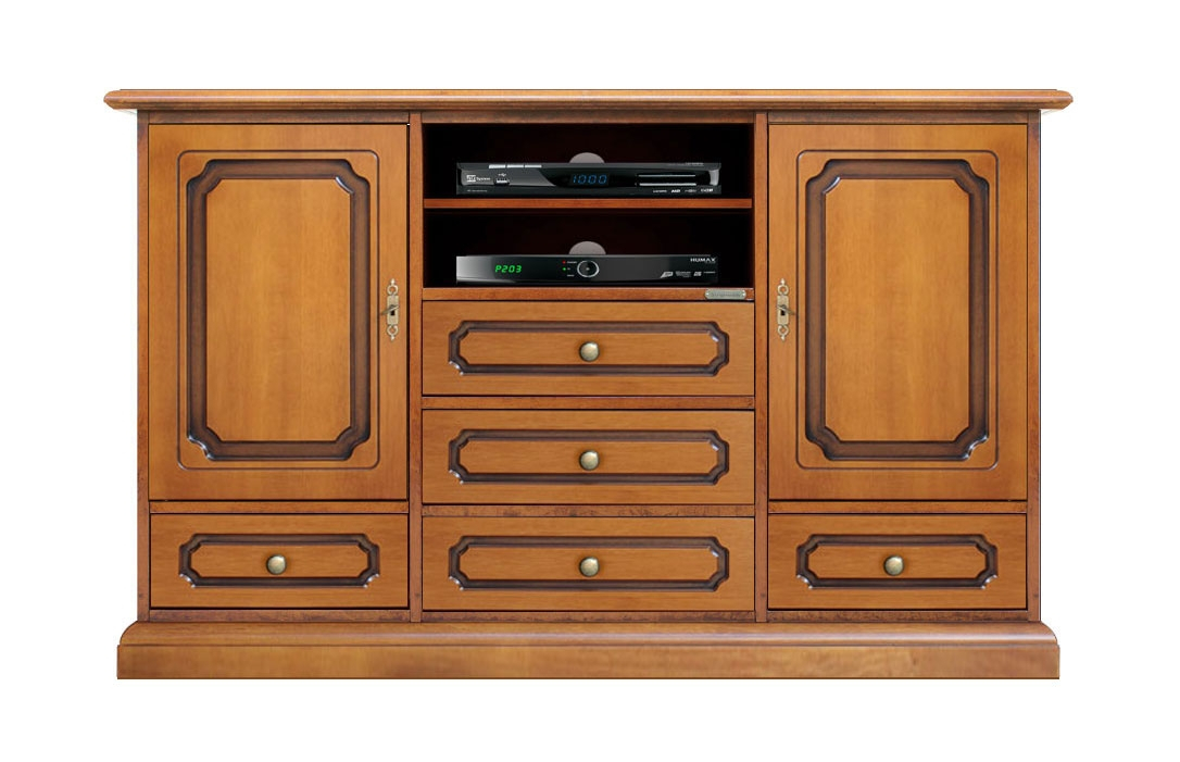 Wooden tv stand sideboard for living room
