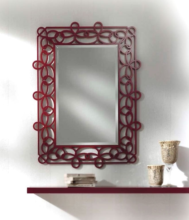 Hallway furniture ideas mirror and shelf
