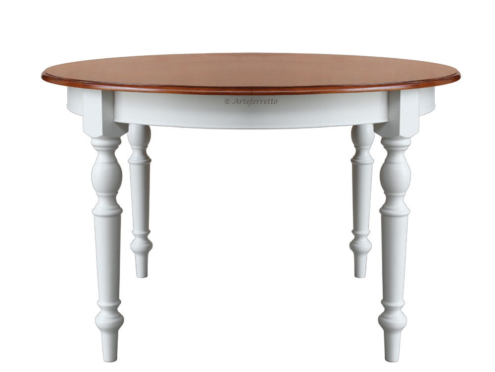 Two tone dining table diameter 120 cm
