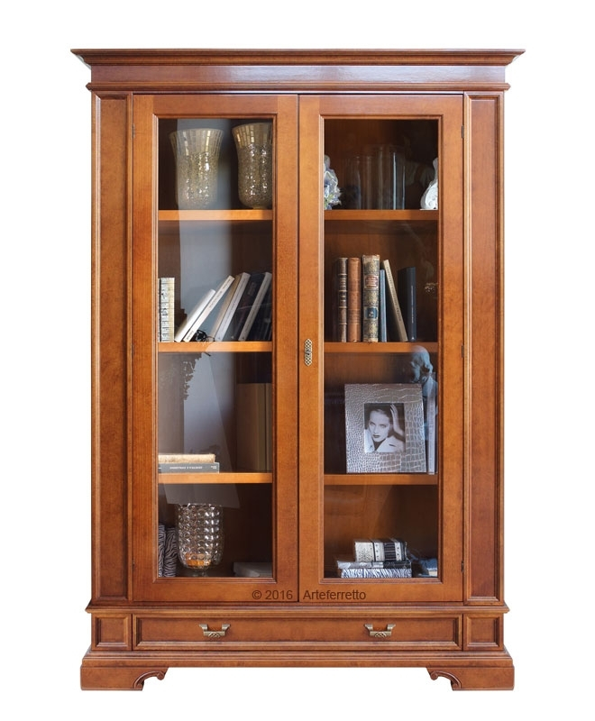 2 door display cabinet for living
