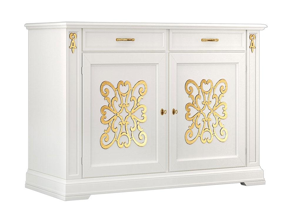 Elegant gold sideboard