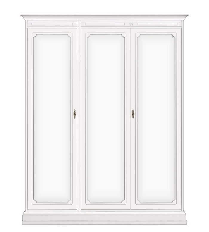 Lacquered cabinet with 3 doors