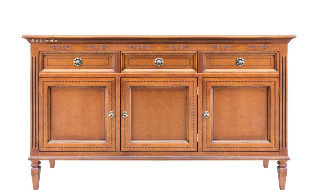 3 door wooden sideboard Grandottori