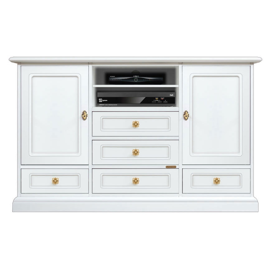 White wood cabinet 4 drawers