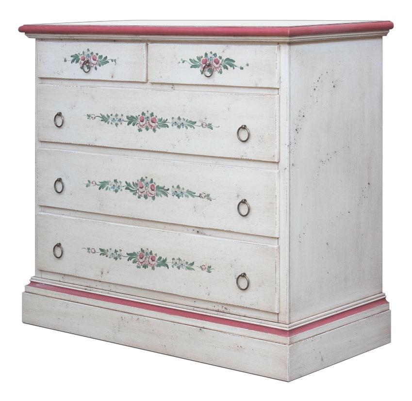 Distressed dresser, handmade decorations